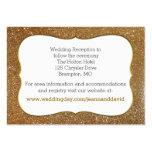 Chic Gold Glitter Look Wedding Enclosure Card