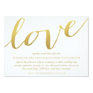 CHIC GOLD LOVE WEDDING INVITATION