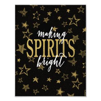 CHIC GOLD   MAKING SPIRITS BRIGHT STARS PHOTO PRINT