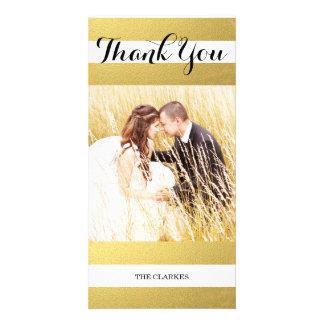 CHIC GOLD PRINT | WEDDING THANK YOU PHOTO CUSTOMISED PHOTO CARD