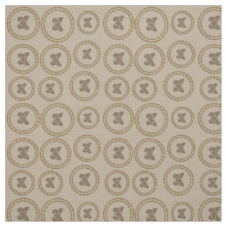 Chic Gold Rings Butterfly Pattern Linen Fabric