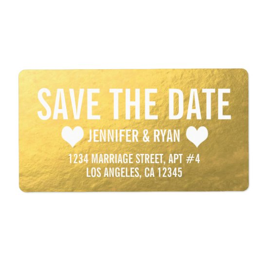 CHIC GOLD SAVE THE DATE
