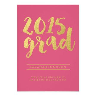 Chic Gold Script | Pink 2015 Graduate Announcement