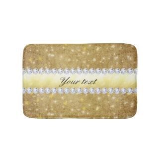 Chic Gold Sparkling Stars and Diamonds Bath Mats