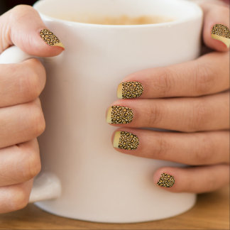 Chic Gold Tipped Leopard Print Nails Minx Nail Art