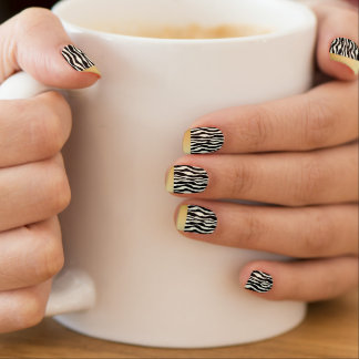 Chic Gold Tipped Zebra Print Nails Minx Nail Art