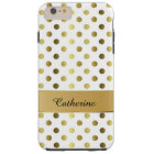 Chic Gold & White Polka Dot iPhone 6 Plus case