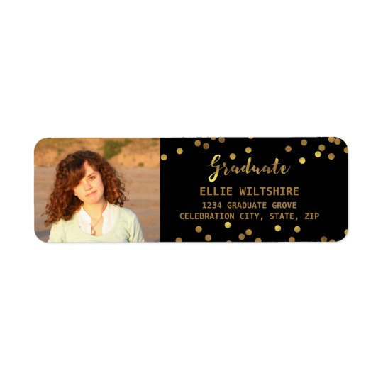 Chic Graduation Photo Faux Gold Foil Confetti