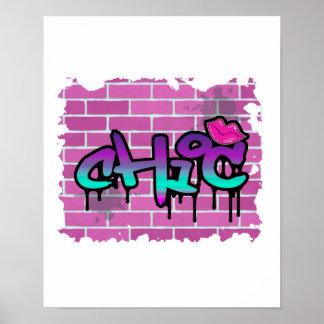 chic graffiti  design poster