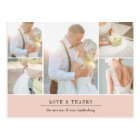 Chic Gratitude | Wedding Photo Collage Thank You Postcard