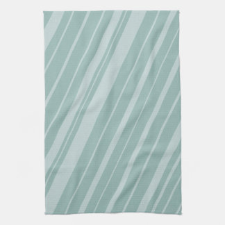 Chic Green Mint Stripes Tea Towel