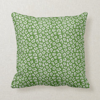 Chic Green & White Leopard Print Pattern Pillow