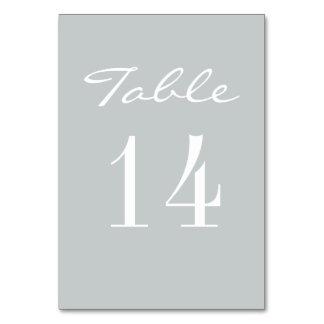 Chic Grey White Elegant Wedding Card