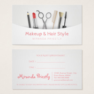 Chic Hair stylist Makeup Tools & Brushes White