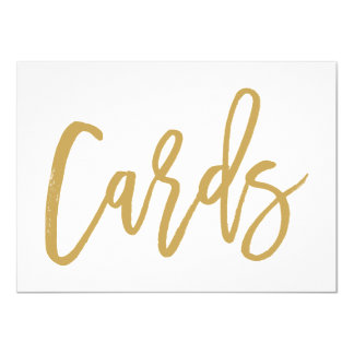 Chic Hand Lettered Gold Wedding Cards Print