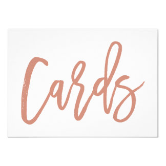 Chic Hand Lettered Wedding Cards Print Rose