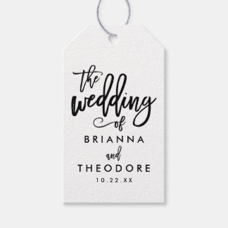 Chic Hand Lettered Wedding Gift Tag