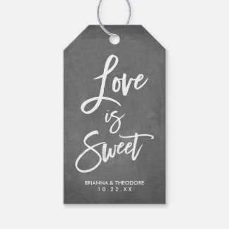 Chic Hand Lettered Wedding Love Is Sweet Gift Tags