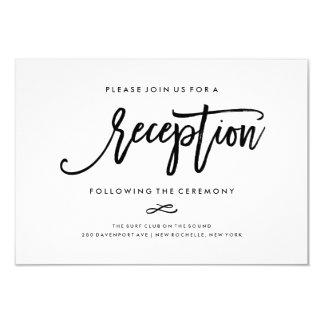 Chic Hand Lettered Wedding Reception Card 9 Cm X 13 Cm Invitation Card