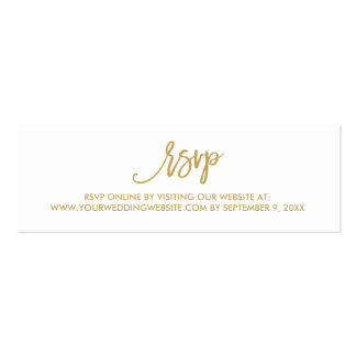 Chic Hand Lettered Wedding RSVP Online Card Pack Of Skinny Business Cards