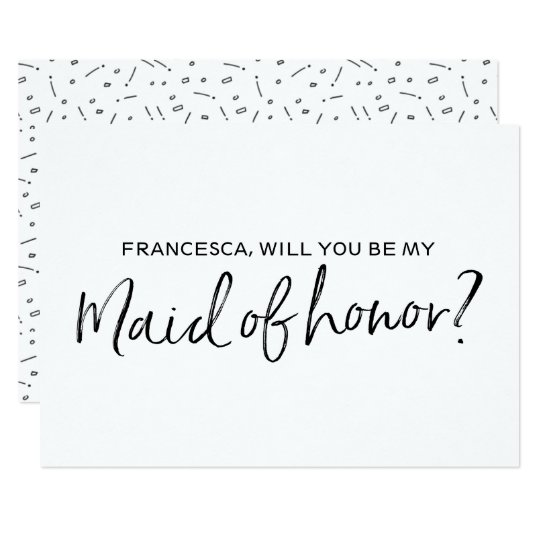 """Chic Hand lettered """"Will you be my maid"""