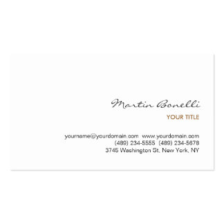 Chic Handwriting Sophisticated White Business Card