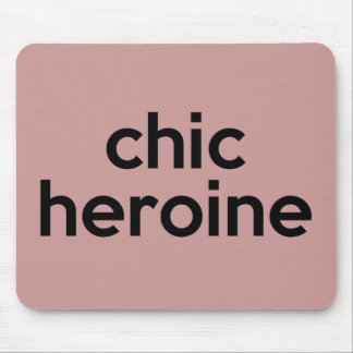 Chic Heroine Fashionable Pun Mouse Pad
