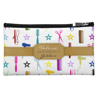 Chic Hues Hair Salon Stylist (Custom) Bag Cosmetic Bags