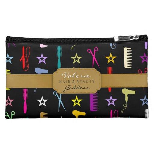 Chic Hues Hair Salon Stylist (Custom) Bag Makeup Bags