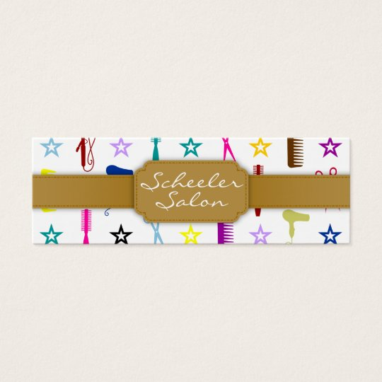 Chic Hues Multicolor - Custom Skinny Bizcard Mini Business Card