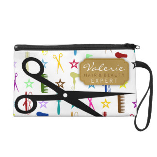 Chic Hues with Black Hair Shears Custom Wristlet