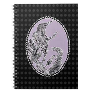 Chic Hummingbird Notebook (80 Pages B