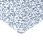 Chic Indigo Blue Ethnic Floral Print Tissue Paper