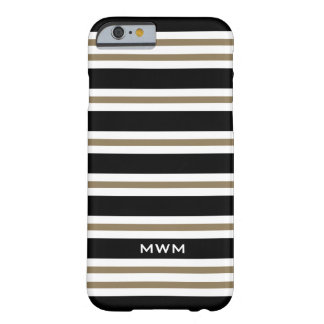 CHIC IPHONE6 CASE_CAMEL/BLACK/WHITE STRIPES #3 BARELY THERE iPhone 6 CASE