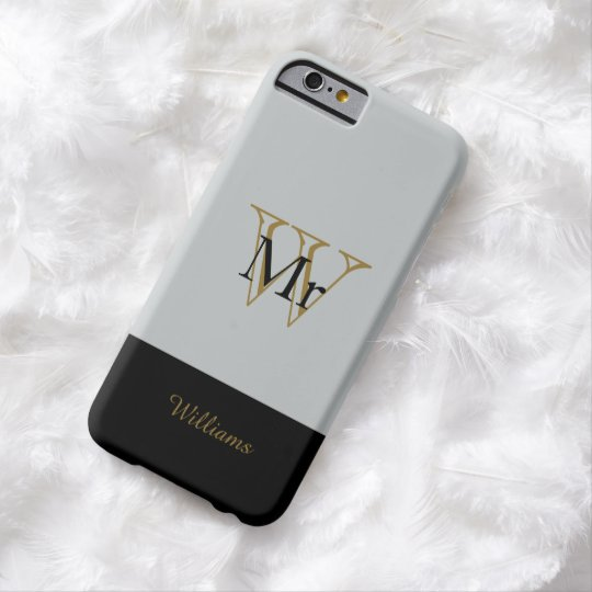 "CHIC IPHONE6 CASE_""MR"" SILVER/GOLD/BLACK BARELY THERE iPhone 6 CASE"