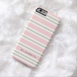 CHIC IPHONE6 CASE_PINK/PINK/WHITE STRIPES #3 BARELY THERE iPhone 6 CASE