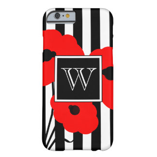 CHIC IPHONE 6 CASE_MOD  01 RED POPPIES BARELY THERE iPhone 6 CASE