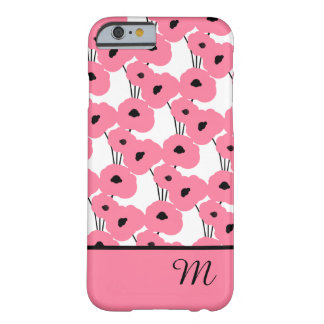 CHIC IPHONE 6 CASE_MOD 241 PINK POPPIES BARELY THERE iPhone 6 CASE