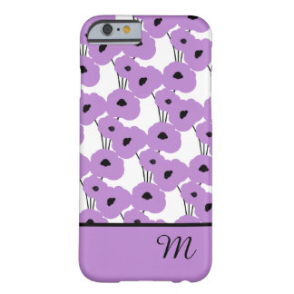 CHIC IPHONE 6 CASE_MOD LAVENDER POPPIES BARELY THERE iPhone 6 CASE