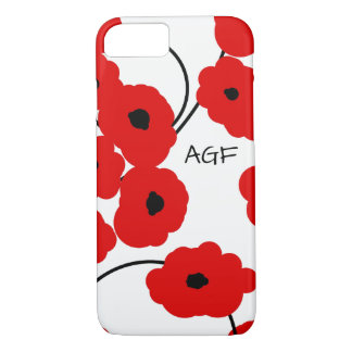 CHIC IPHONE 6 CASE_MOD RED & BLACK POPPIES iPhone 8/7 CASE
