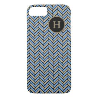 CHIC iPhone 7 CASE_CAMEL/BLUE/BLACK HERRINGBONE #2 iPhone 7 Case