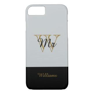 "CHIC iPhone 7 CASE_""MR"" SILVER/GOLD/BLACK iPhone 7 Case"