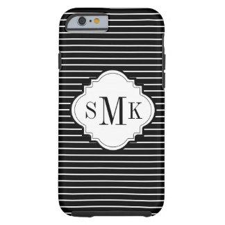 CHIC IPHONE CASE_MODERN BLACK/WHITE STRIPES TOUGH iPhone 6 CASE