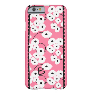 CHIC IPONE 6 CASE_MOD, GIRLY WHITE & BLACK POPPIES BARELY THERE iPhone 6 CASE