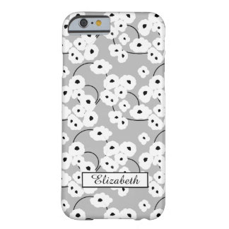 CHIC IPONE 6 CASE_MOD WHITE & BLACK POPPIES BARELY THERE iPhone 6 CASE