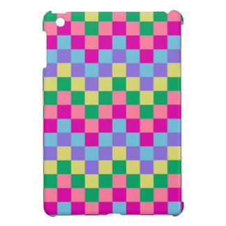 CHIC ITEMS_MULTICOLORED PASTEL TILE  BLOCKS COVER FOR THE iPad MINI