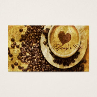 Chic Java cappuccino Coffee Beans Coffee Lover Business Card