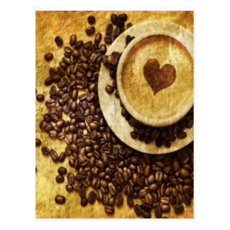 Chic Java cappuccino Coffee Beans Coffee Lover Postcard