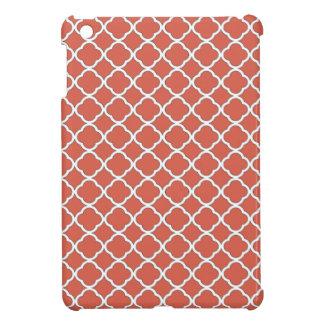 Chic Jelly Bean Orange Quatrefoil Maroccan Pattern iPad Mini Cover