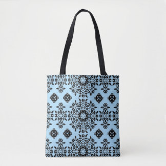Chic kaleidoscope pattern tote bag